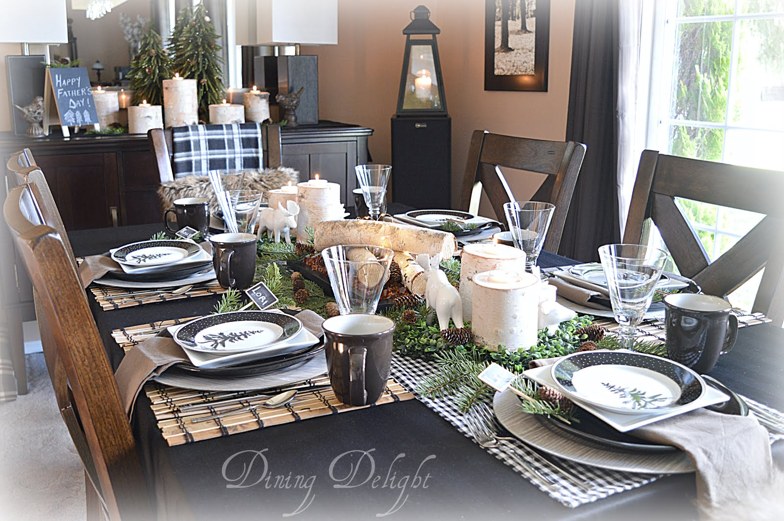 Father's Day Woodland Tablescape
