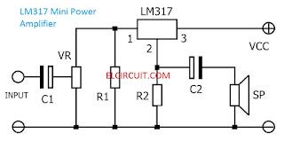 LM317 Mini Power Amplifier Circuit
