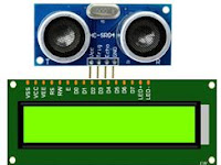 Sekolah Dirumah Mekatronika - Menampilkan jarak sensor ultrasonik di Lcd 16x2 Arduino