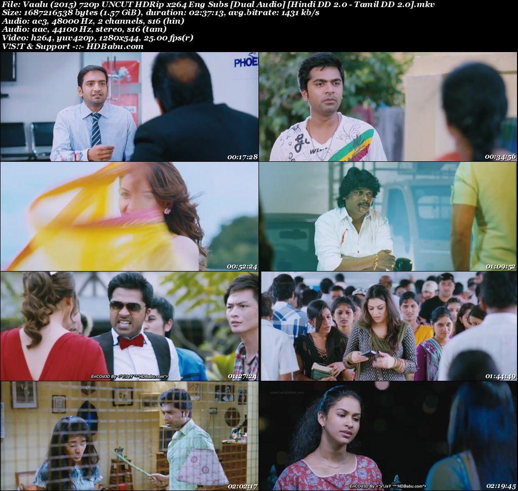 Vaalu (2015) 720p UNCUT HDRip x264 [Hindi DD 2.0 - Tamil DD 2.0] Screenshot