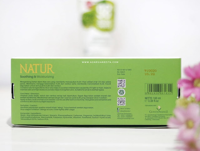[Review] Natur Sleeping Mask 98% Aloe Vera Gel - Soothing & Moisturizing