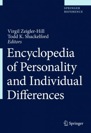 Encyclopedia of Personality and Individual Differences 2020 ebook