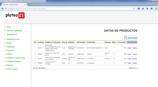 tienda online php admin productos ver