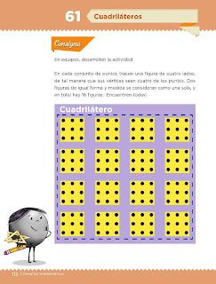 Apoyo Primaria Desafíos Matemáticos 4to. Grado Bloque III Lección 61 Cuadriláteros