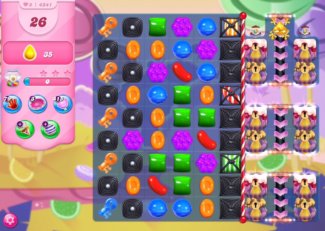 Candy Crush Saga level 4341