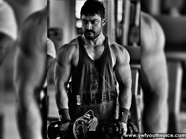 Aamir Khan's 'Dangal' look finally revealed, Dangal Bollywood Film, Aamir Khan Dangal Body, Fitness Aamir Khan Ebs