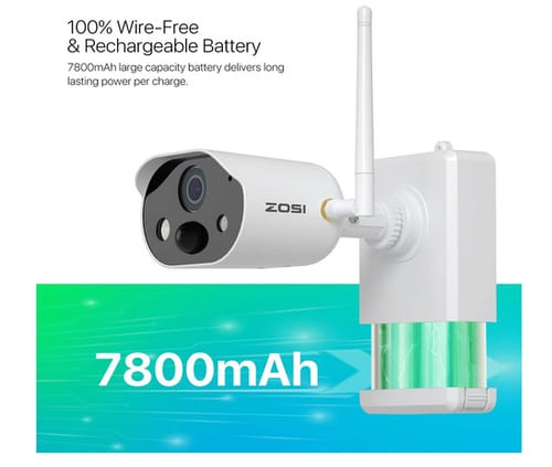 ZOSI C306 Wire Free Rechargeable 1080P Security Camera