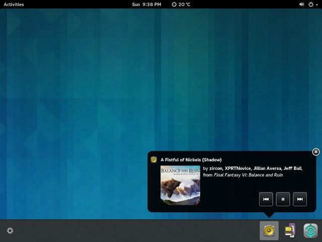 Antigo sistema de notificações do GNOME Shell