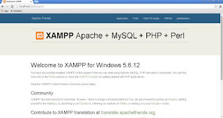 Accessing localhost, to get XAMPP dashboard