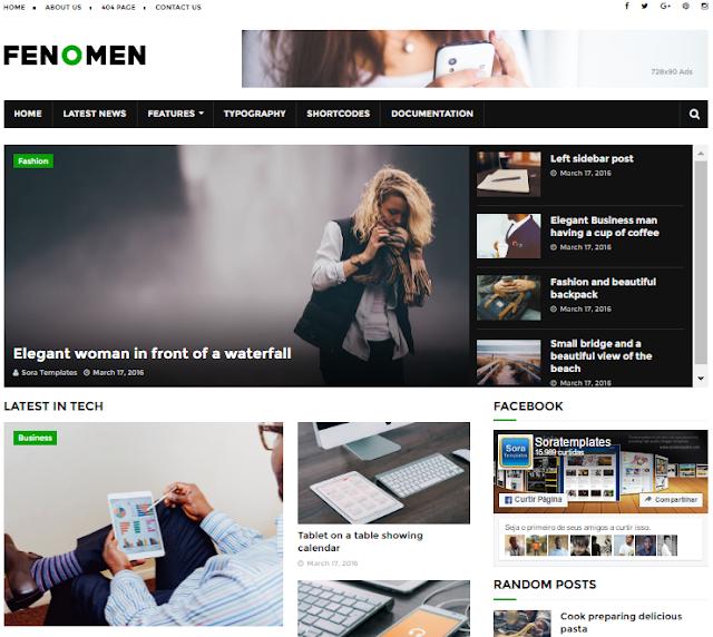 Fenomen Magazine Blogger Template