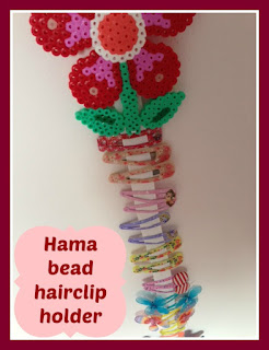 How to make a Hama bead hair clip holder