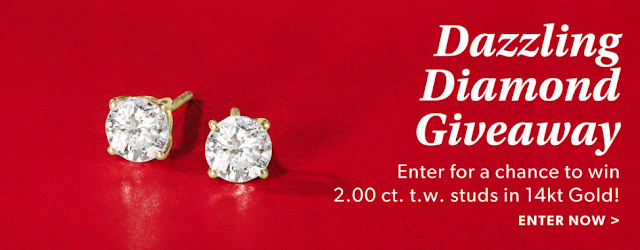This Holiday season, Ross-Simons jewelers will be awarding one lucky winner with this gorgeous set of diamond stud earrings that are worth almost $5000!