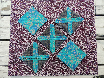 recess fabric banyan batiks pieced X blocks