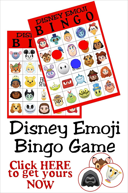 Have fun with your family and friends while social distancing with this Disney Emoji Bingo game perfect for playing in person or via social media. #bingogame #socialdistancinggame #diypartymomblog