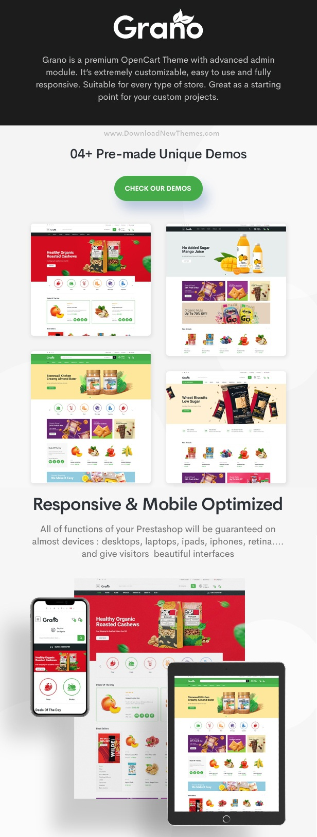 Organic and Food Opencart Theme
