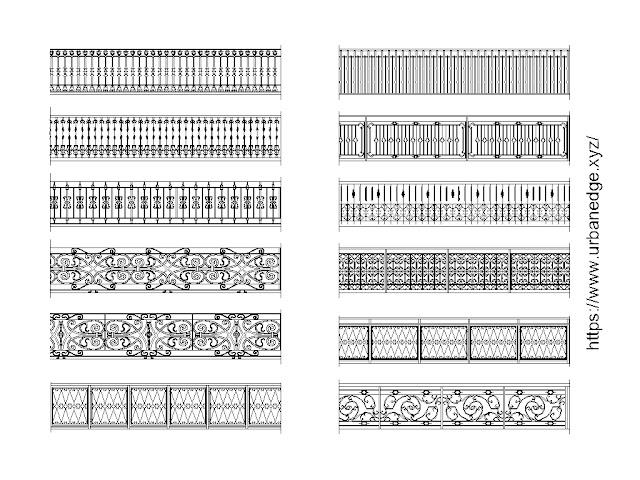Railings cad blocks