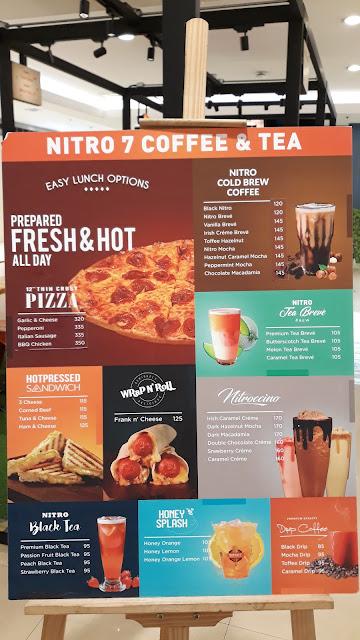 Nitro 7 Coffee & Tea Menu: