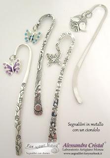 segnalibro metallo ciondolo farfalla