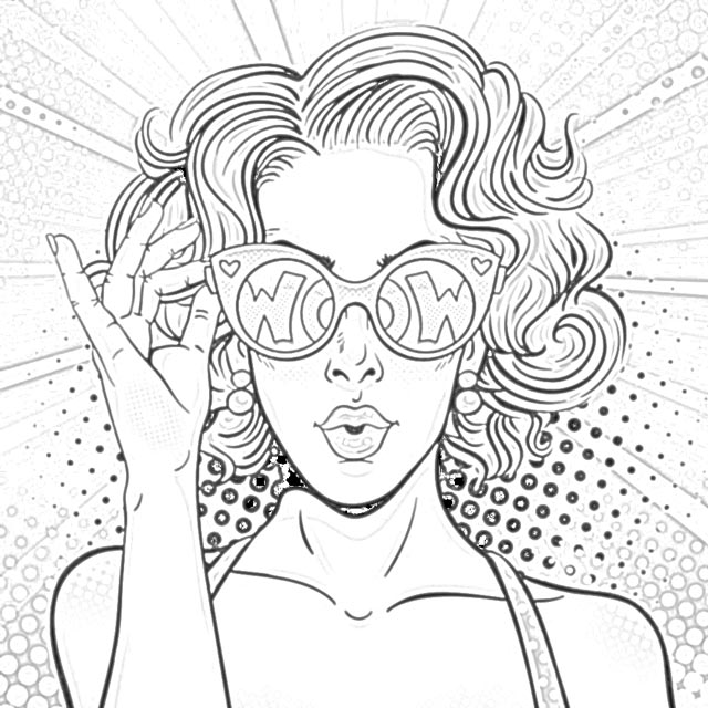 The Holiday Site Coloring Pages Of Pop Art Girls Free And Downloadable