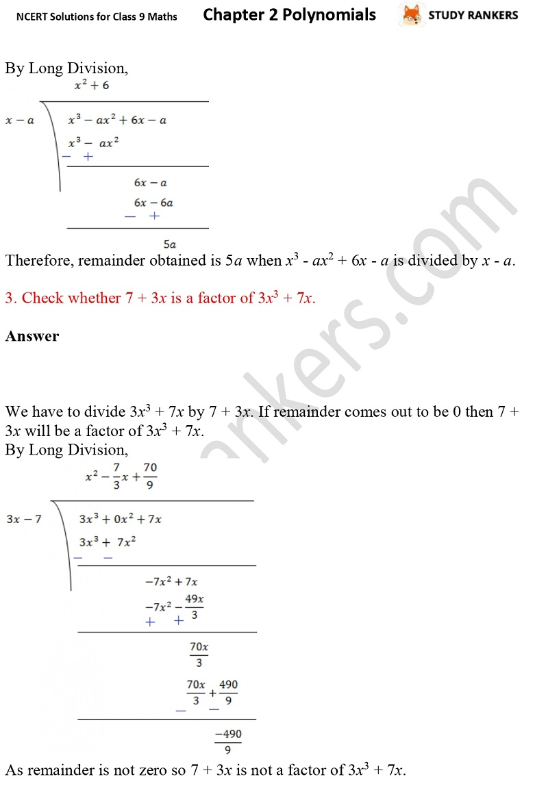 NCERT Solutions for Class 9 Maths Chapter 2 Polynomials Part 11