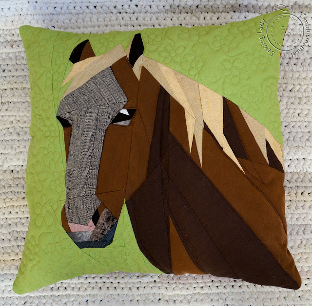 patchwork horse pillow