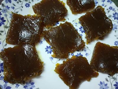 Mango jelly / mango halva / mavina hannina burfi