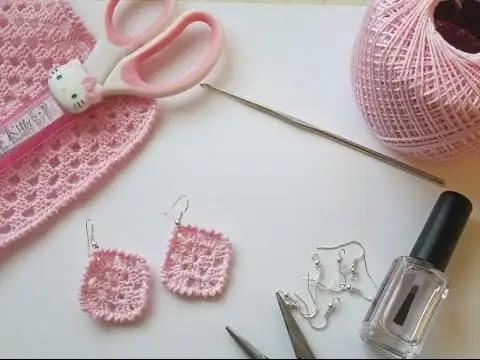 Aprende a Tejer Aretes Sencillos a Crochet