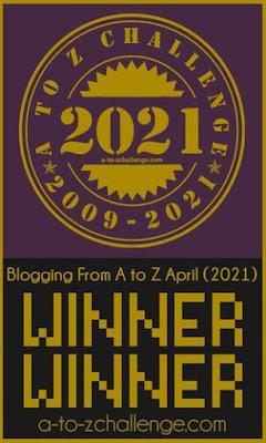 winner #atozchallenge 2021