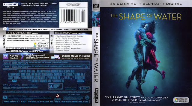 The Shape Of Water 4K Bluray Cover