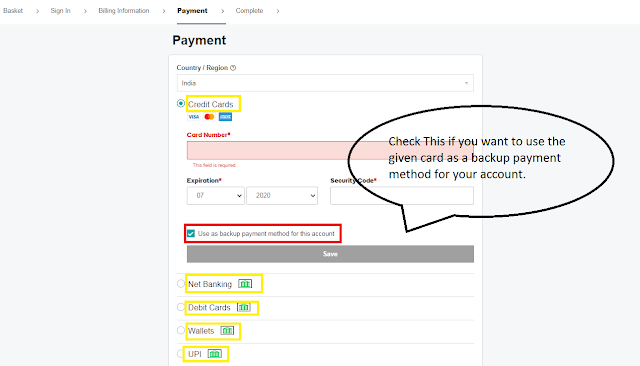 GoDaddy India Domain Payment