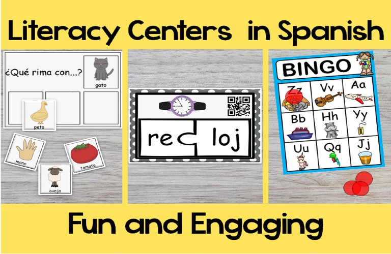 Discover 7 Hands-On Literacy Stations to Teach Beginning Sounds in Spanish