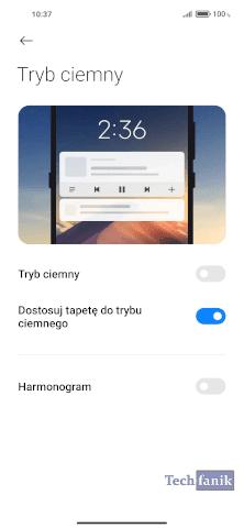 Xiaomi Tryb ciemny