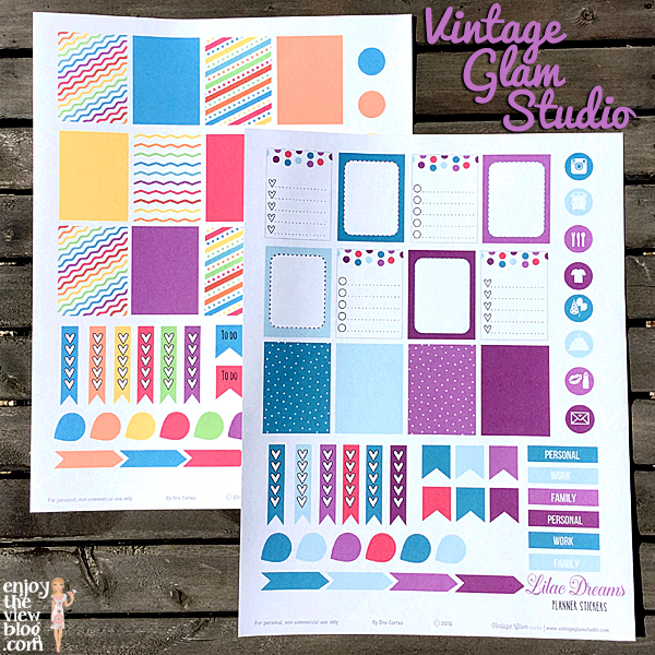 free printables for Erin Condren Life Planner from Vintage Glam Studios