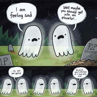 Ghosts and Halloween Meme by @bethlinfootcounseling on Instagram