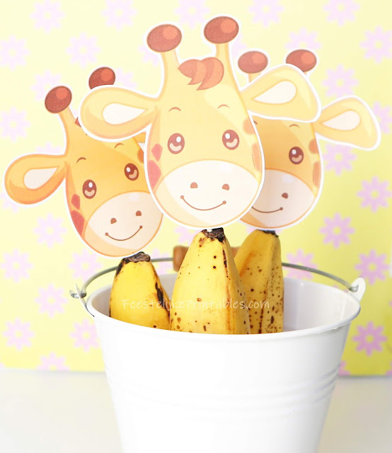 gezonde traktatie, gratis giraf printable, giraf traktatie, traktatie met banaan, gezonde traktatie voor school, gezonde traktatie voor psz, psz traktatie
