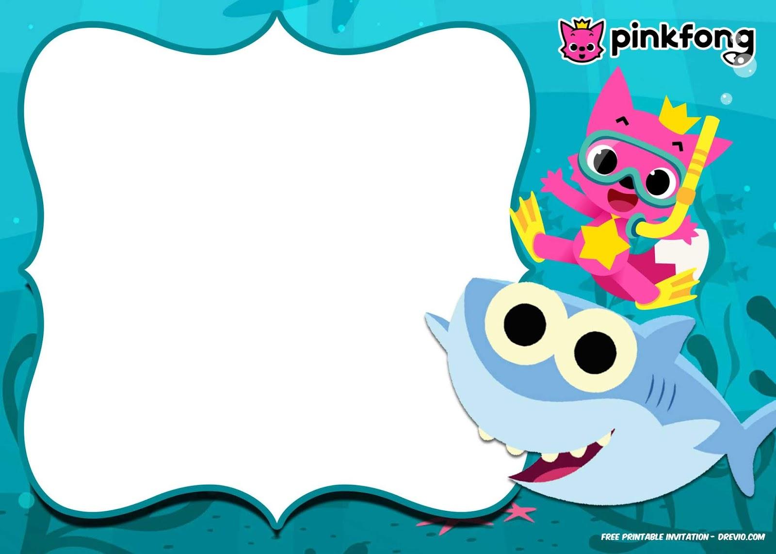 Fiesta De Baby Shark Invitaciones Para Imprimir Gratis