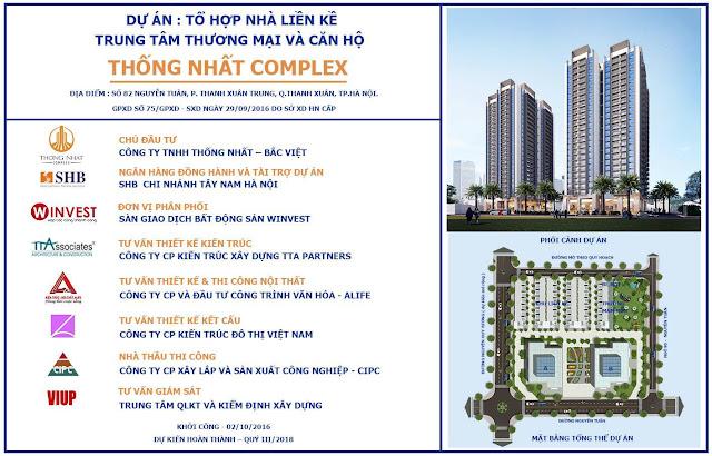 Tổng thể dự án Thống Nhất Complex - 82 Nguyễn Tuân