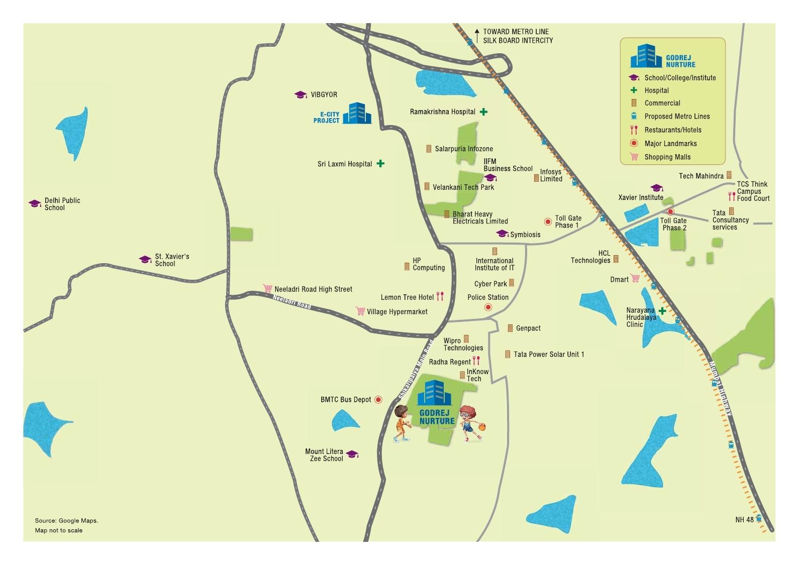 godrej nurture location map
