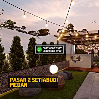 Roof Top 2 Malam Hari Rumah Cantik Mewah Berkualitas di Pasar 2 Setiabudi Ringroad Medan - Twin Luxury