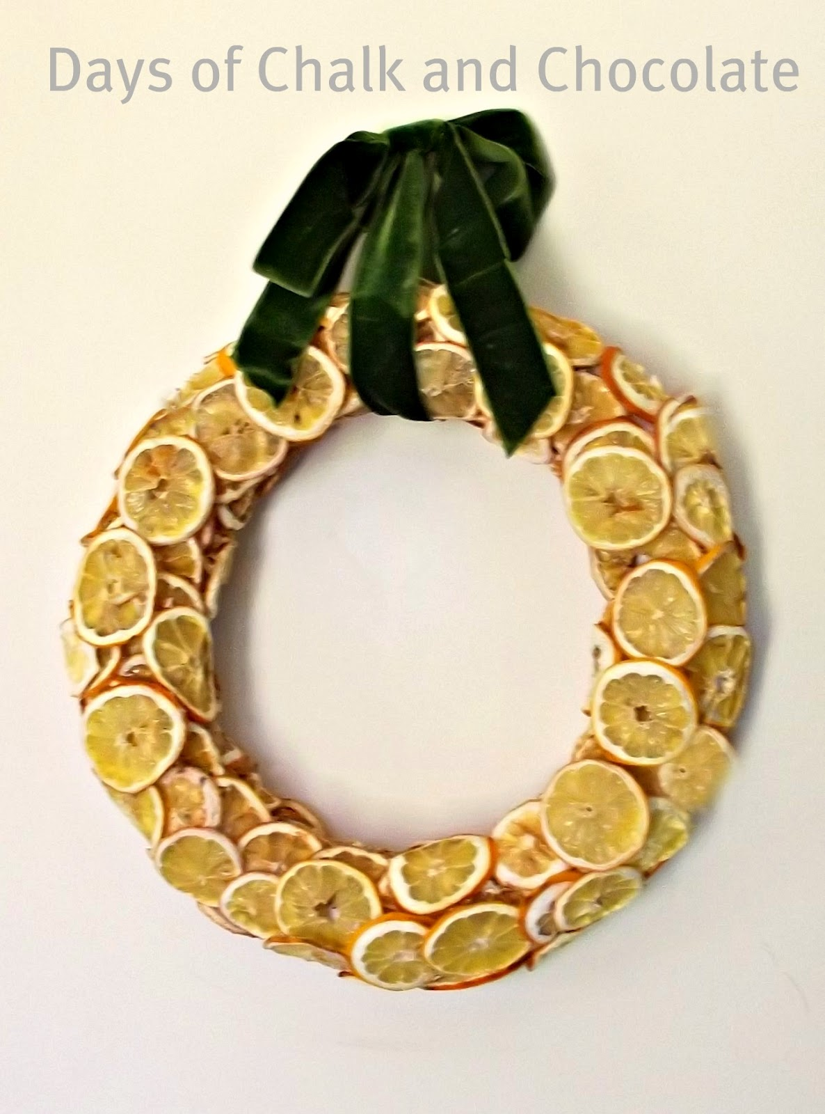 Lemon Wreath Spring Decor Days Of Chalk And Chocolate
