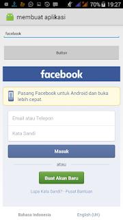 membuat aplikasi untuk sembunyikan facebook