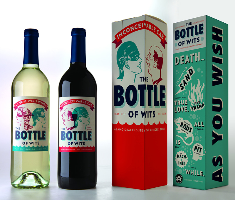 The princess bride wine packaging