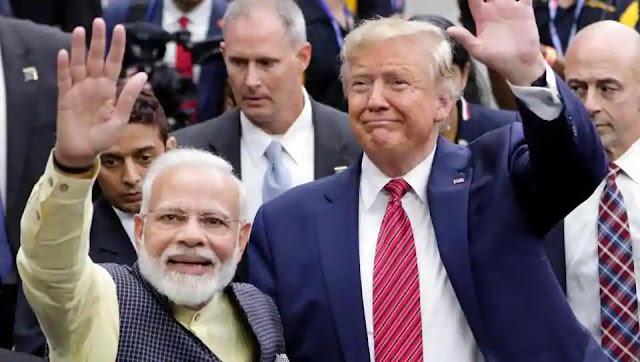 Prime Minister Narendra Modi with US president Donald Trump at the Howdy Modi event in Houston last year.
