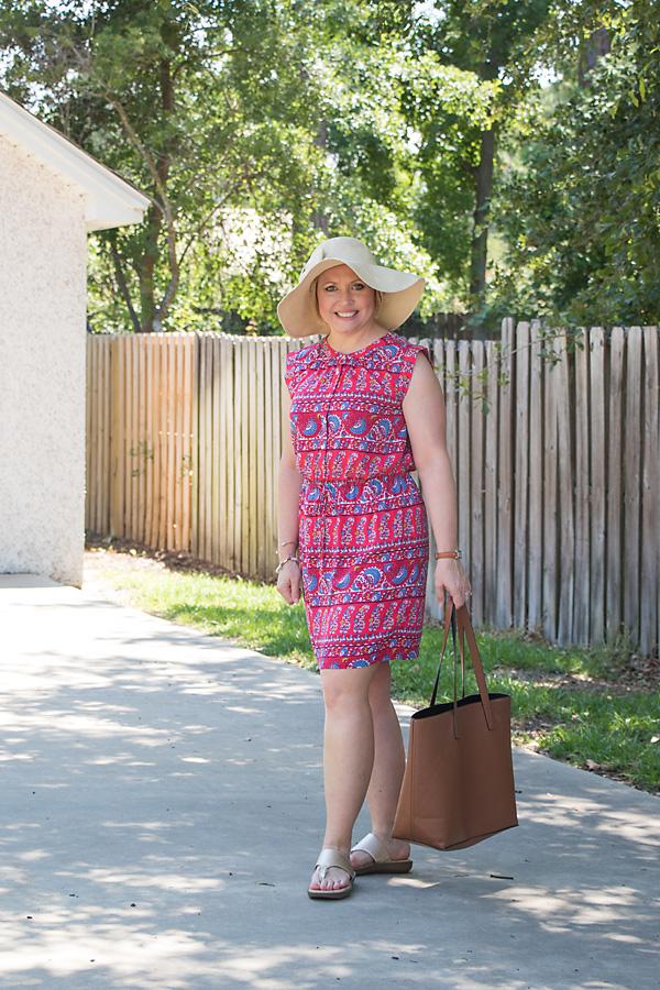 Floppy hat with dress