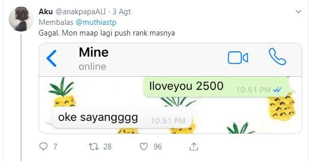 10 Gombalan Lucu 'I Love You 2500' Ini Receh Banget