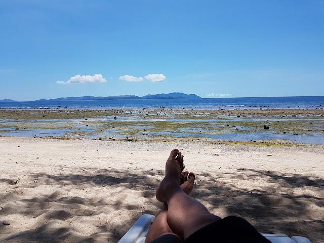 Pantai Paradise Likupang saat surut