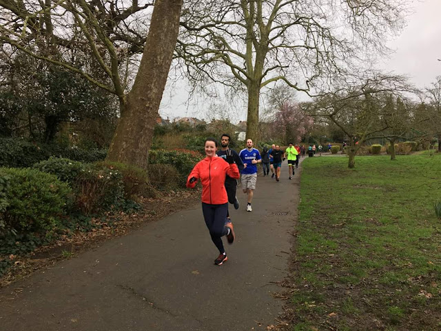Runners at Harrow parkrun