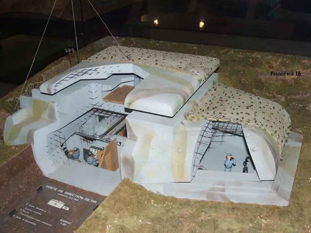 Maquette du bunker de Longues