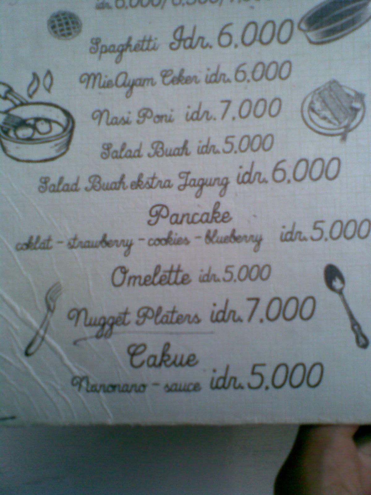 Mie Huhah Spageti Salad Buah Milkshake