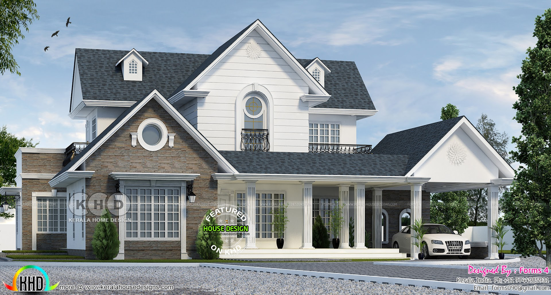 Amazing Colonial Style Home Architecturally Treated Kerala Home Design And Floor Plans 8000 Houses